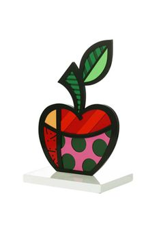 APPLE white base sculpture $395