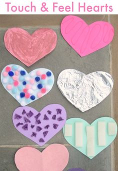 Touch and Feel Hearts  - simple sensory activity for preschoolers and toddlers!