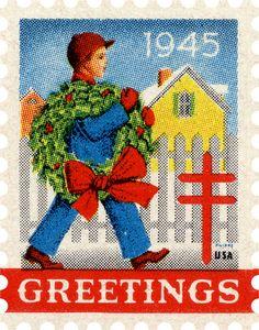 Christmas Seals - (1945)