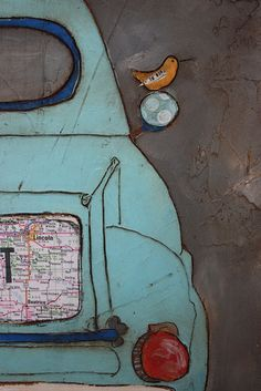 Art Journal Inspiration: travel map ... Jenni Horne Studios: Given an Opportunity