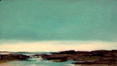 TEAL, oil painting landscape