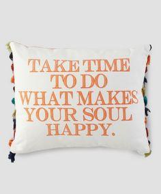 Take Time.... Tassel Pillow – Heart & Home