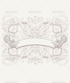 Vintage Pattern Background - Miscellaneous Characters
