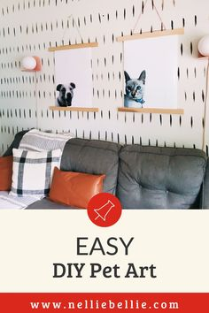 Create your own custom art featuring your favorite pooch! A great gift idea for your dog-loving friend. I have the full instructions for this DIY pet art including pintable's, video, and more! Follow along! #Homedecor #Petpictures #DIY Pet Art, Pretty Room, Cute Diys, Furniture Layout, Diy Stuffed Animals, Photo Displays, Custom Art, Diy Tutorial, Your Pet