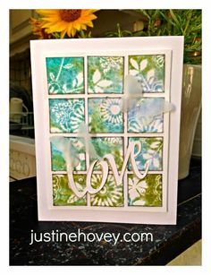 Justine's Close to My Heart Scrapbooking: Stretch Your Stamps Online Card Class Card #3: Background Stamps
