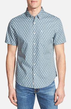 Original+Penguin+Heritage+Slim+Fit+Short+Sleeve+Print+Poplin+Shirt+available+at+#Nordstrom