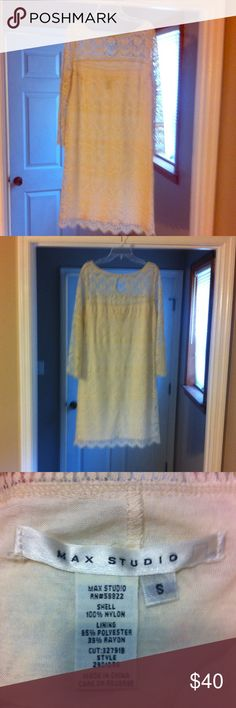 Lace Minidress Beautiful laced cream-colored dress. Smoke free home. Used but excellent condition. Women's size small, could fit junior also. Dresses