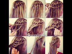 Ladder waterfall braid!!
