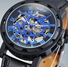 Transparent Dial Mechanical Men Watch.