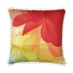 Summer Blossom Pillow –  pom pom, garden, bright vivid cushion, decorative,