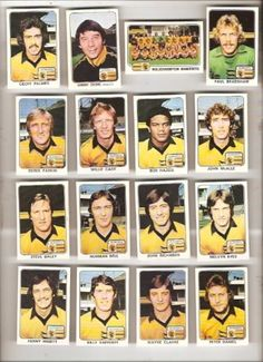 Panini 1979 football stickers Football Stickers, Football Fans, Football Players, Wolverhampton Wanderers Fc, International Football, Historical Images, Great Team, Boston Bruins, Rolling Stones