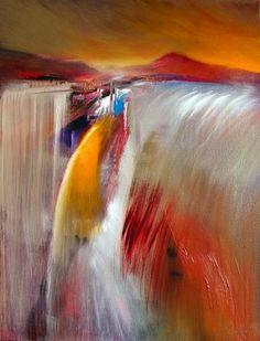 """Annette Schmucker, """"Wasserfall"""" Mit einem Klick auf """"Als Kunstkarte versenden"""" versenden Sie kostenlos dieses Werk Ihren Freunden und Bekannten."""