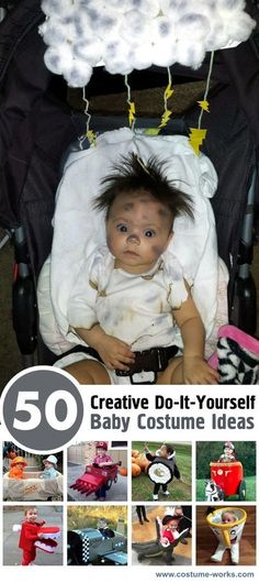 Halloween offers a spook-tacular opportunity for bonding and fun with baby. Whether you have a little ghoul or a little angel, this list of DIY baby costume ideas will leave onlookers howling with delight on Halloween night. Creative Costumes, Cute Costumes, Costume Ideas, Best Baby Costumes, Infant Costumes, Halloween Kostüm, Family Halloween, Diy Baby Costumes For Halloween, Costume Carnaval