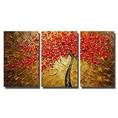 Hand painted Canvas Painting Wall Art Knife Flower Oil Painting Home Decoeation Artist Painted Living Room Wall No Frame. Subcategory: Home Decor.