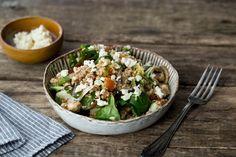 Couscous met gegrilde groenten en fetablokjes
