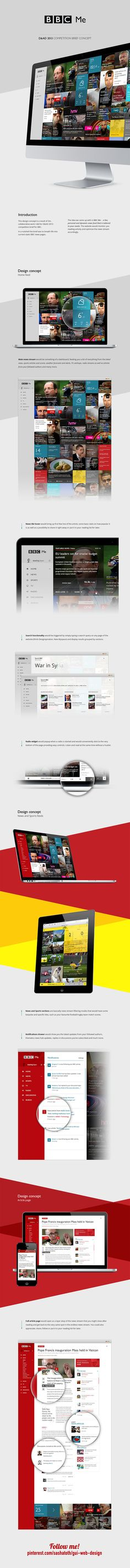 BBC Me concept / D 2013 by Dmitrij Paškevič, via Behance *** This is the result of a 3m. collaborative work on BBC student brief for D 2013.