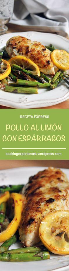 POLLO AL LIMÓN CON ESPÁRRAGOS. RECETA RÁPIDA