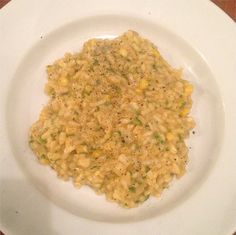 Yummy Homemade #Risotto with wild watercress and fresh sweet corn, saffron, #Parmesan and white truffles #zacposen #cookingwithzac
