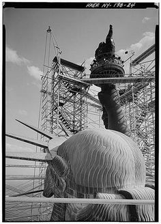 cjwho:  The Statues of Liberty Construction (1884) The Statue of...