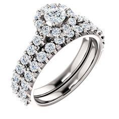 0.25 Ct Round Diamond Engagement Ring 14k White Gold – Goldia.com