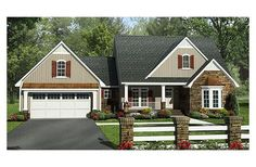 House Plan 21-312 with flex room