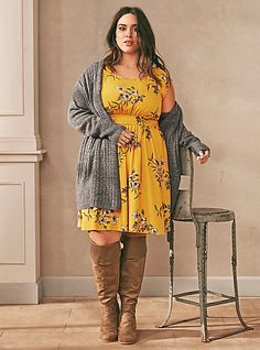 Plus Size Outfit Shop The Look affiliate link big size fashion Mode Outfits, Chic Outfits, Fall Outfits, Floral Outfits, Outfit Winter, Summer Outfits, Plus Size Fashion For Women, Plus Size Women, Big Size Fashion