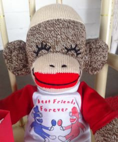 LOL Smiling Sock Monkey with Mystery Grab Bag by Sillysockmonkeys, $33.00