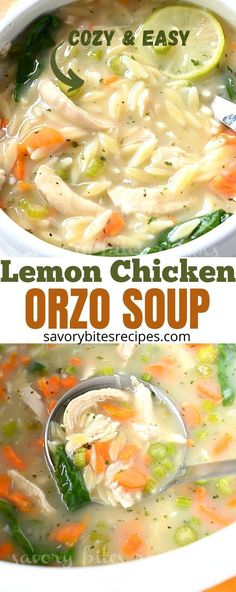 Orzo Recipes, Best Soup Recipes, Chicken Soup Recipes, Healthy Soup Recipes, Greek Recipes, Dinner Recipes, Chili Recipes, Yummy Recipes, Yummy Food