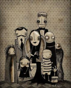 The Addams Family #illustration #Ilustração