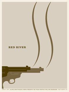 Jason Munn. Red River. 3 Color Screen Print. 18 x 24 inches. 2011.