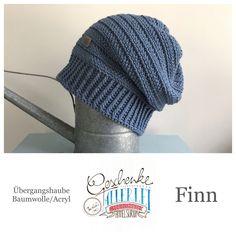 Tunella's Geschenkeallerlei präsentiert: das ist Finn, eine geniale gehäkelte Haube/Mütze aus einer Baumwolle/Acryl-Mischung - Du kannst dich warm anziehen, dank sorgfältigem Entwurf, liebevoller Handarbeit und deinem fantastischen Geschmack wirst du umwerfend aussehen. #TunellasGeschenkeallerlei #Häkelei #drumherum #Beanie #Haube #Mütze #handgemacht #Geschenk #Finn