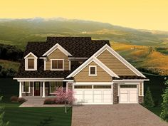 ePlans Country House Plan –2250 Square Feet and 4 Bedrooms from ePlans – House Plan Code HWEPL75939