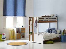 The Taylor #bunkbed from #Snooze. Double on the bottom, single on the top! #beds #bedroom #kids