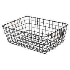 Copper Handled Pewter Milk Crate