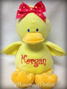 Personalized, Monogrammed Yellow Plush Duck. $34.95, via Etsy.