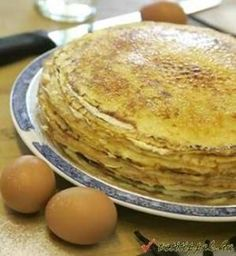 zabpelyhes palacsinta Crêpe Recipe, French Food, Nutella, Pancakes, Tasty, Dishes, Breakfast, Ethnic Recipes, Morning Coffee