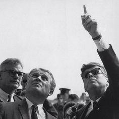Werner Von Braun - the man who made a rocket that escaped the gravitational field of the earth - and Jack Kennedy