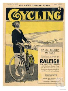 Cycling, Bicycles Magazine, UK, 1922 Art Print at Art.com