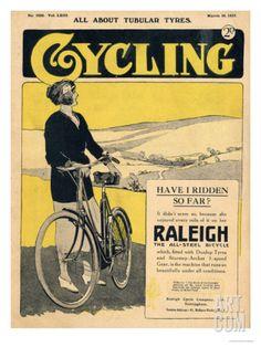 Cycling, Bicycles Magazine, UK, 1922 Art Print at Art.com