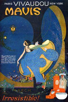 Frederick Little Packer (1886-1956) - 1923 L'Esprit Swing's, Mavis perfume Advertising-1920