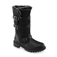 Totes Women's Fargo Black Faux Fur Mid-Calf Winter Snow Boot