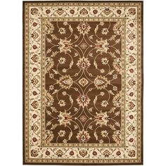 Traditional Floral Brown Area Rug Best Design Luxury Rug For ...