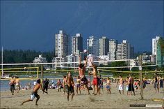 Kits Beach, Vancouver. I so wanted to join in on a volleyball game!