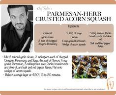 Parmesan-Herb Crusted Acorn Squash #Christmas