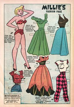 Millie the Model Issue - Read Millie the Model Issue comic online in high quality Comic Book Paper, Millie The Model, Handmade Envelopes, Christmas Paper Crafts, Animal Coloring Pages, Vintage Paper Dolls, Pretty Dolls, Vintage Illustrations, Retro Art