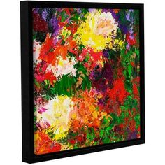 ArtWall Allan Friedlander Wisteria And Roses Gallery-wrapped Floater-framed Canvas, Size: 18 x 18, Green