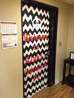 AOII Door Sugar At The Delta Pi Chapter House!
