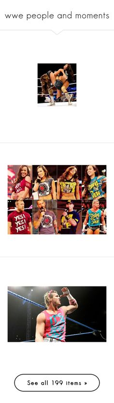"""""""wwe people and moments"""" by ashtonreepierce ❤ liked on Polyvore featuring divas, wwe, dolph ziggler, pictures, wrestling, wwe/tna, dean ambrose, people, roman and seth rollins"""