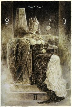 The Labyrinth Tarot by Luis Royohttp://www.luisroyofantasy.com/cards/the-labyrinth-tarot/