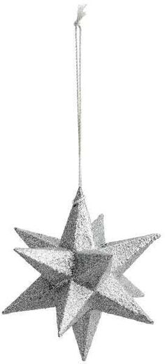 Star Christmas decoration, I could make these in white and string them the same as this one is, really pretty Scandinavian Jul diy!  ❤️Aff